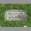 James Ausker Stone gravestone Glenwood Cem, Bristol, TN